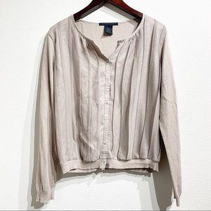 Katherine Barclay | Beige Long Sleeve Top Sz XL